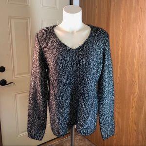 Calvin Klein Black V-Neck Sweater - Sz L